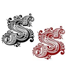 Retro capital letter S vector image