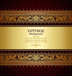 Royal vintage burgundy background vector image vector image