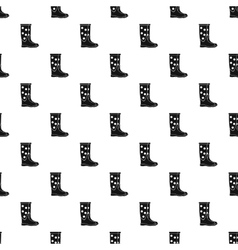 Rubber boot pattern simple style vector
