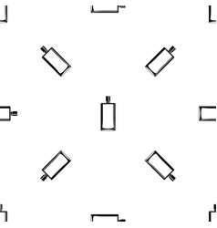 Scent bottle pattern seamless black vector