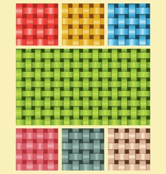 Weave fiber texture multicolour vector