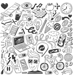 web doodles collection vector image