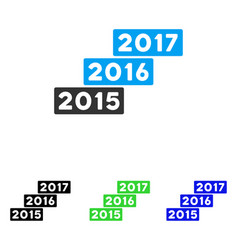 Years stairs flat icon vector