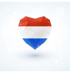 Flag of the netherlands in shape diamond glass vector