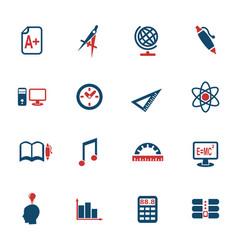 University icon set vector