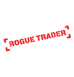 Rogue trader rubber stamp vector