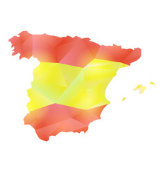 Map spain polygon vector