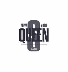 The bronx new york city lettering t-shirt vector