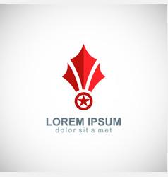 star medal shape business logo vector image