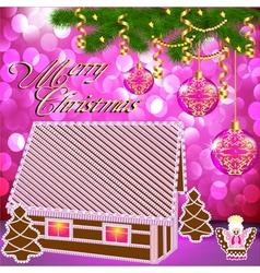 Gingerbread house christmas vector