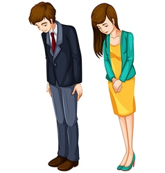 A girl and a boy in their formal attires vector
