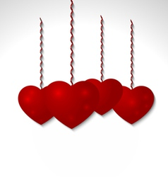 Red volumetric heart - Valentines Day vector image