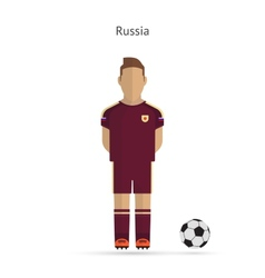 National football player russia soccer team vector