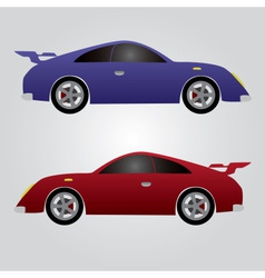 Two sport cars eps10 vector