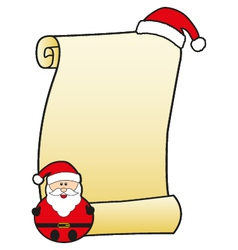 Santa claus with parchment vector