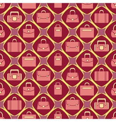 Seamless background with woman bags vector