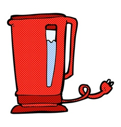 Comic cartoon kettle vector