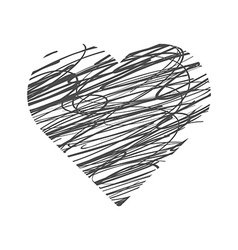 Valentine day hand drawn heart vector