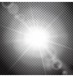 Lens flare on a transparent background vector