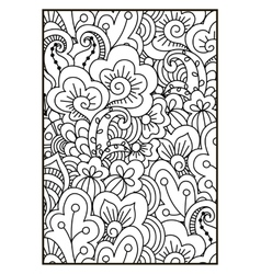 Black and white pattern ethnic henna background vector