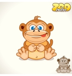 Cartoon monkey character vector