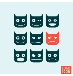 Emoticons icon isolated vector