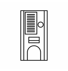 Coffee vending machine icon outline style vector image