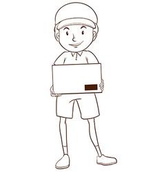 A plain sketch of a postman vector