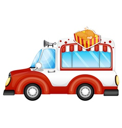 A vehicle selling chicken legs vector