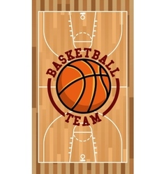 basketball sport emblem icon vector image