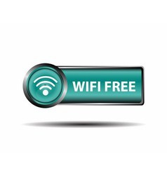 Blue icon wifi free sign isolate vector