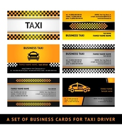 Business card taxi - fourth set vector image vector image
