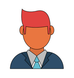 Businessman profile avatar icon image vector