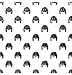 Costume of toreador pattern vector