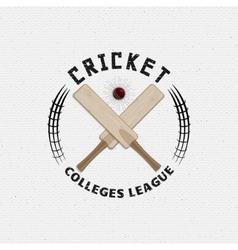 Cricket badges logos and labels for any use vector image vector image