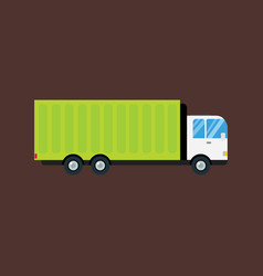 Delivery transport cargo logistic truck commercial vector