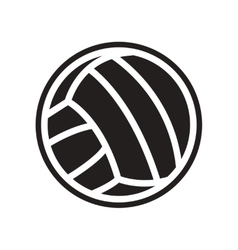 Flat icon in black and white style volleyball ball vector