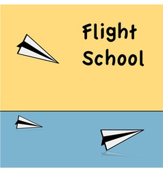 Flight school vector
