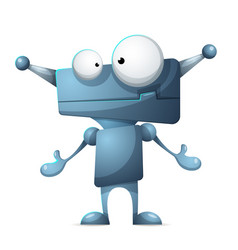 funny cute cartoon characters robot vector image
