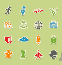 Game genre icon set vector