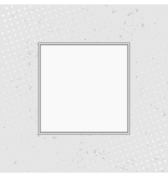 Grunge background with halftone with white frame vector image