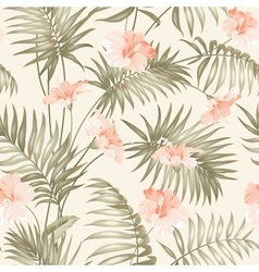 Hand draw tropical flower vector image vector image