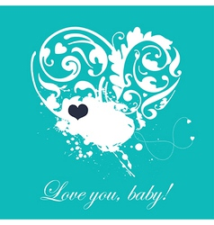 Lovely romantic card vector image vector image