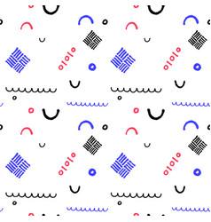 minimal geometric seamless pattern in vector image vector image