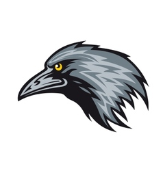 Raven mascot vector image vector image