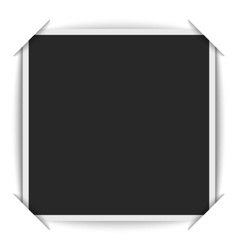 Realistic blank photos square shape inserted in a vector