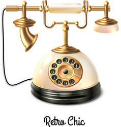 Retro style telephone vector