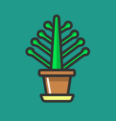 Simple potted flower vector