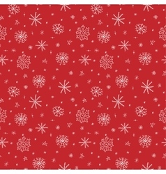 Snowflakes doodle seamless pattern vector image vector image