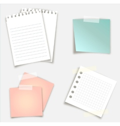 Sticky notes design vector
